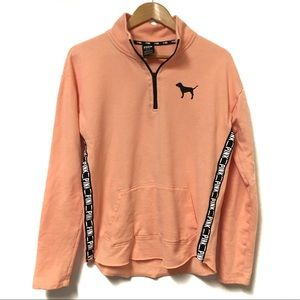 PINK VS Quarter zip pullover sweatshirt Medium
